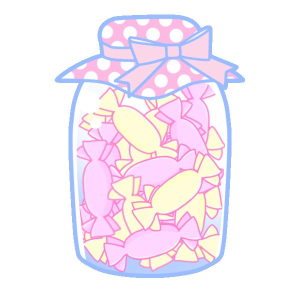 瓶詰キャンディのイラスト