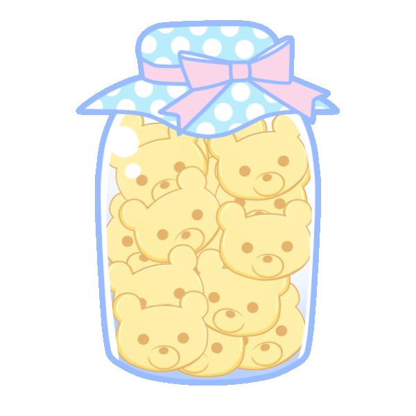 瓶詰クッキー(くま)のイラスト
