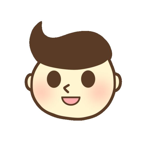 男の子の顔のイラスト