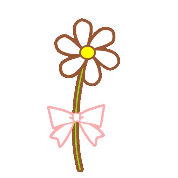 一輪の花のイラスト