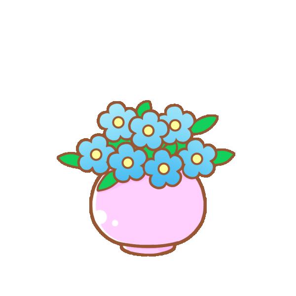 花瓶の花のイラスト