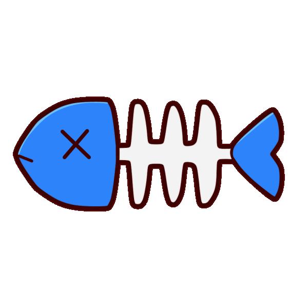魚の骨のイラスト