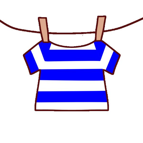 干された半袖シャツのイラスト