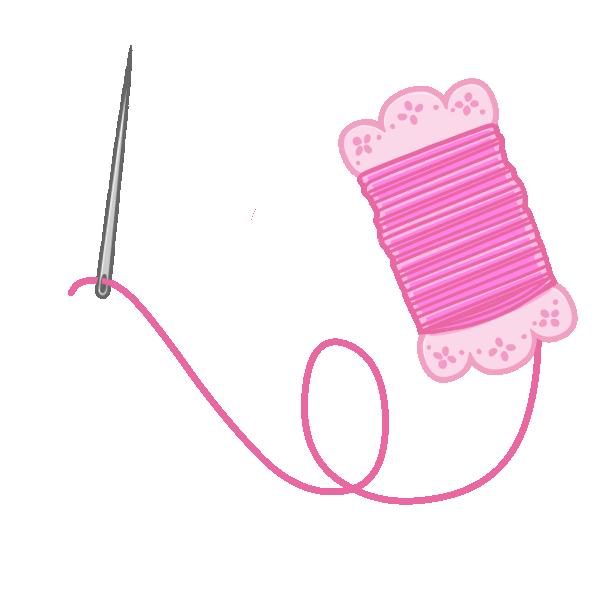 針と糸のイラスト