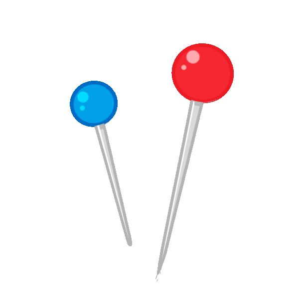マチ針のイラスト
