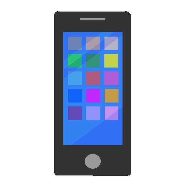 スマートフォン(アプリ)のイラスト