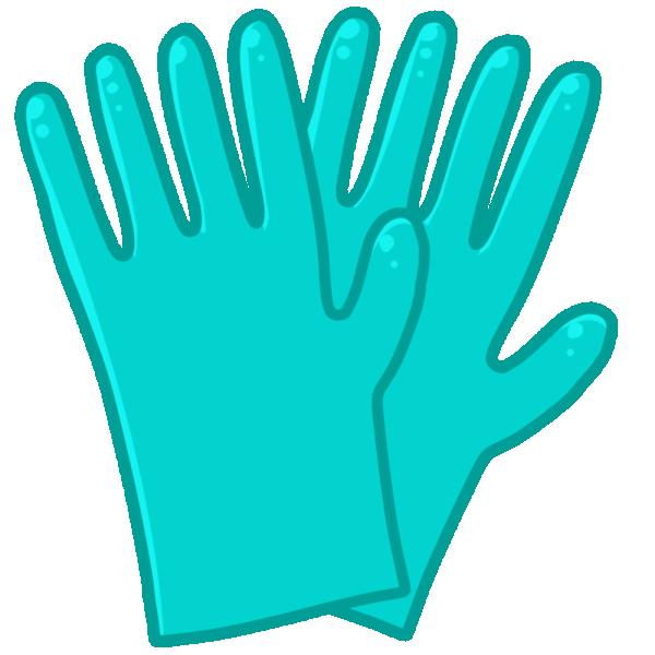 ゴム手袋のイラスト