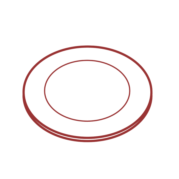 白いお皿のイラスト