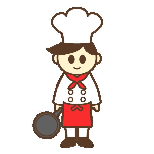 料理人・シェフのイラスト