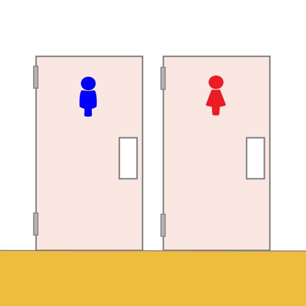 男子トイレと女子トイレのイラスト