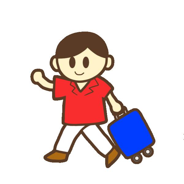 旅行カバンを持った男性のイラスト