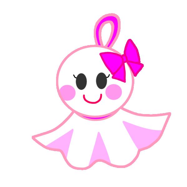 てるてるぼうず(ピンク)のイラスト