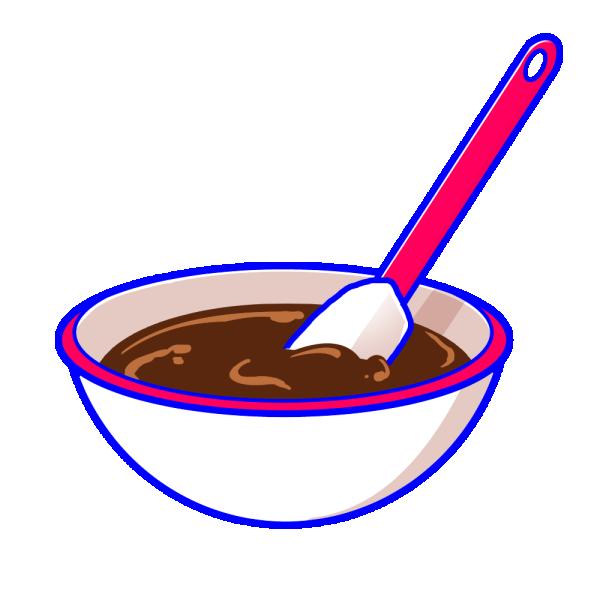 チョコレート作りのイラスト