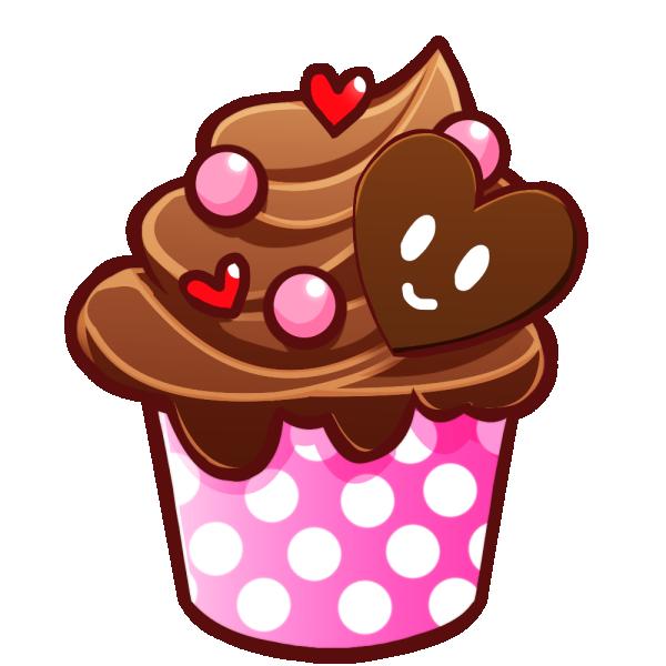 チョコレートのカップケーキのイラスト