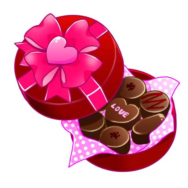 バレンタインプレゼントのイラスト