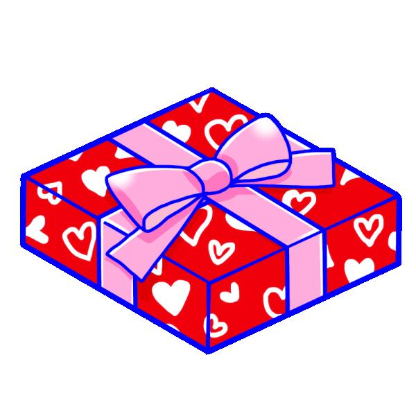 バレンタインのプレゼントのイラスト