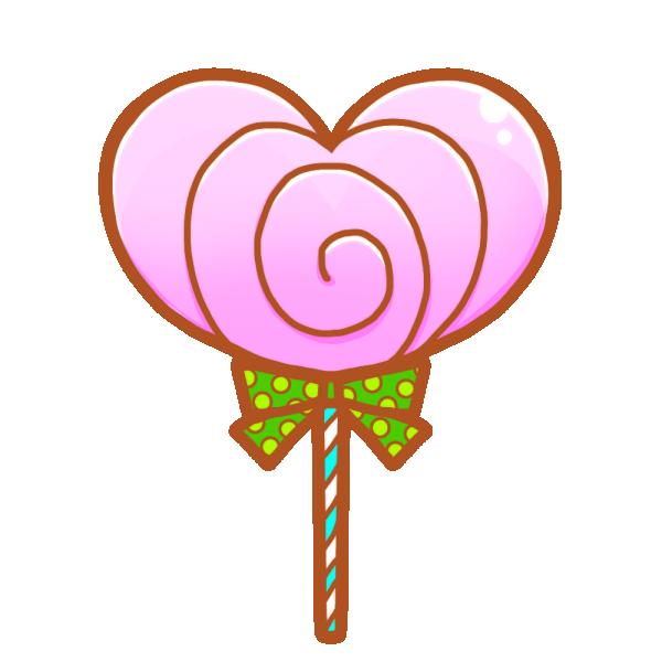 ハートのチョコレートキャンディのイラスト
