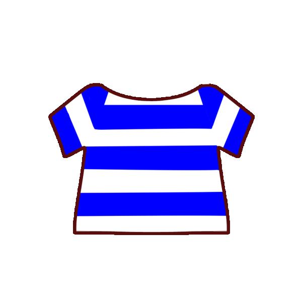 ボーダーのTシャツのイラスト