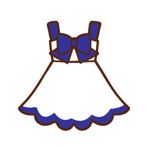 白×青ワンピースのイラスト