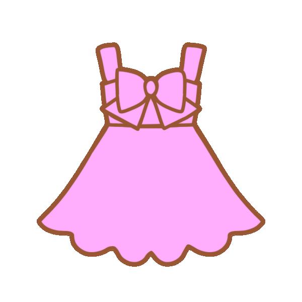 ピンクのワンピースのイラスト