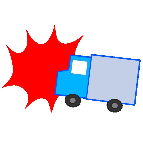 トラック事故のイラスト
