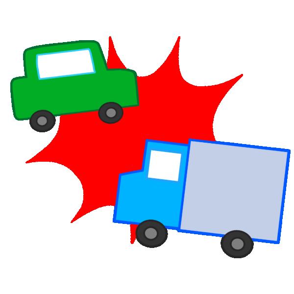 衝突事故のイラスト