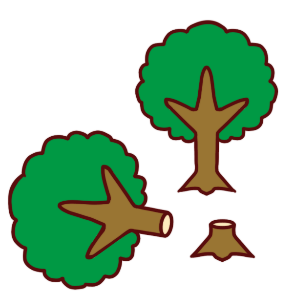 森林伐採のイラスト