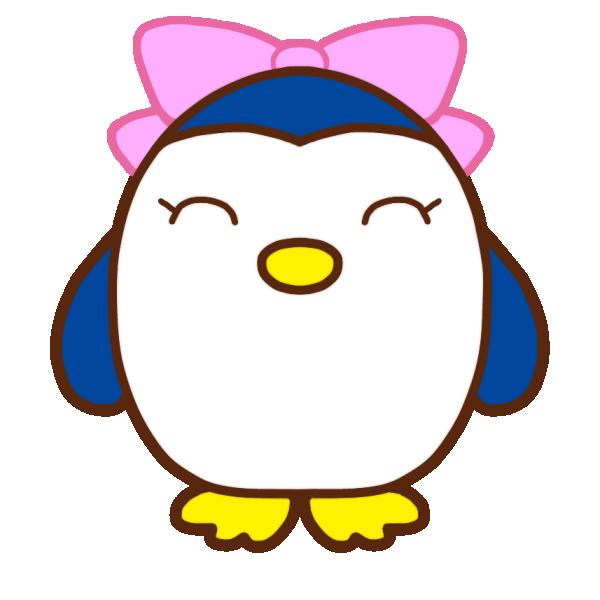 笑顔のペンギンのイラスト