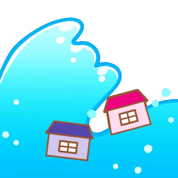 津波のイラスト