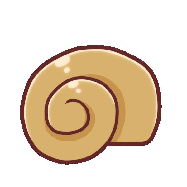 巻き貝のイラスト