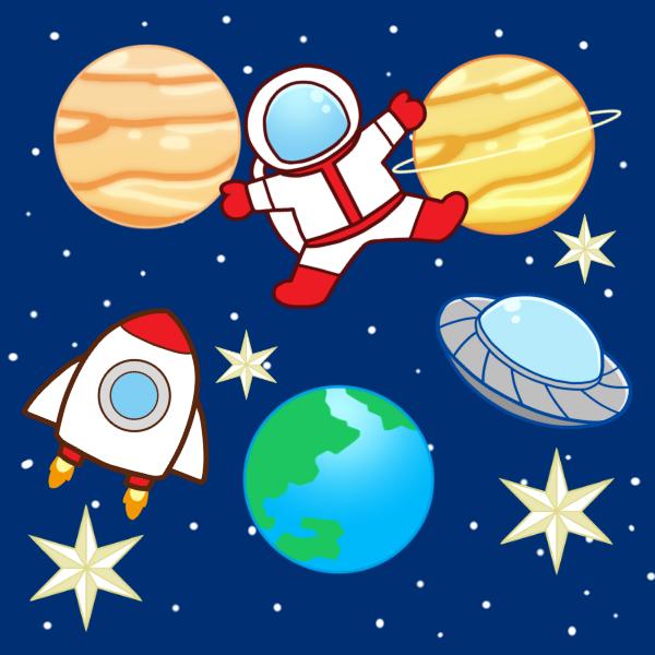 宇宙空間のイラスト