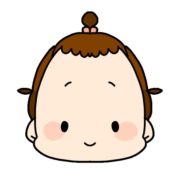 ふつうの顔のイラスト