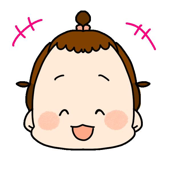 笑った顔のイラスト