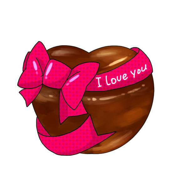 大きな愛のチョコレートのイラスト