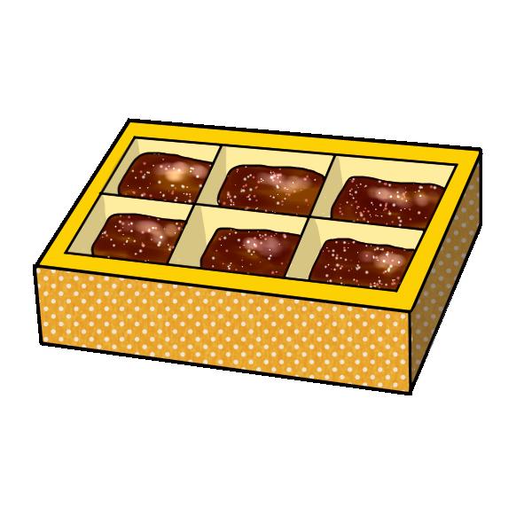 箱チョコのイラスト