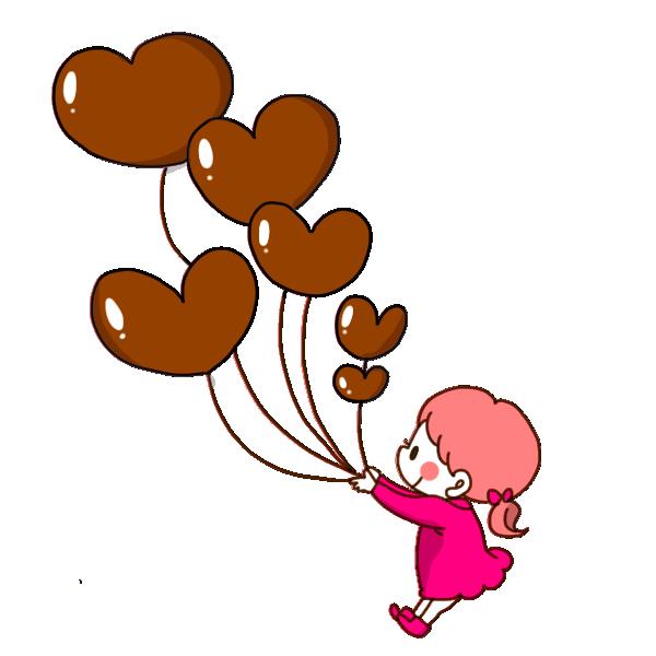 チョコ風船のイラスト