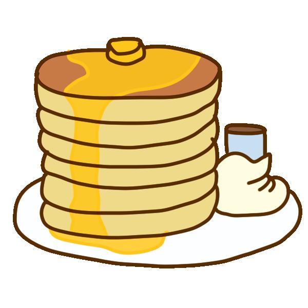 オススメホットケーキのイラスト