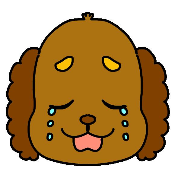 泣いた顔のイラスト