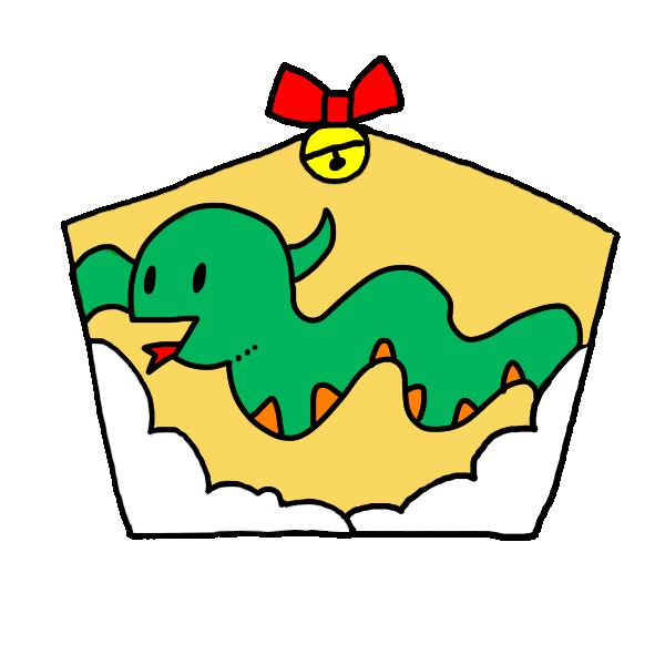 へびの絵馬1のイラスト