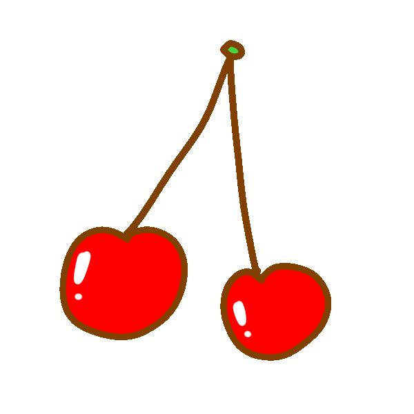 さくらんぼのイラスト