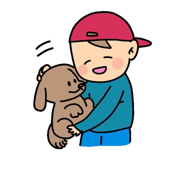 少年と犬1のイラスト
