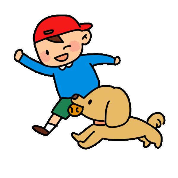 少年と犬2のイラスト