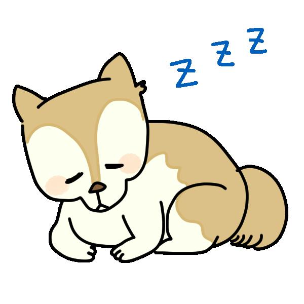 寝る犬のイラスト
