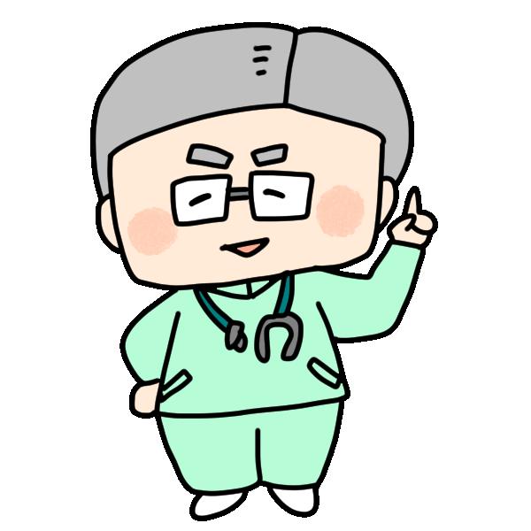 医院長のイラスト