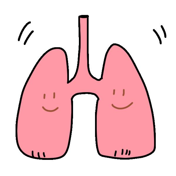 元気な肺たちのイラスト