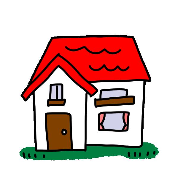 赤い屋根のお家のイラスト