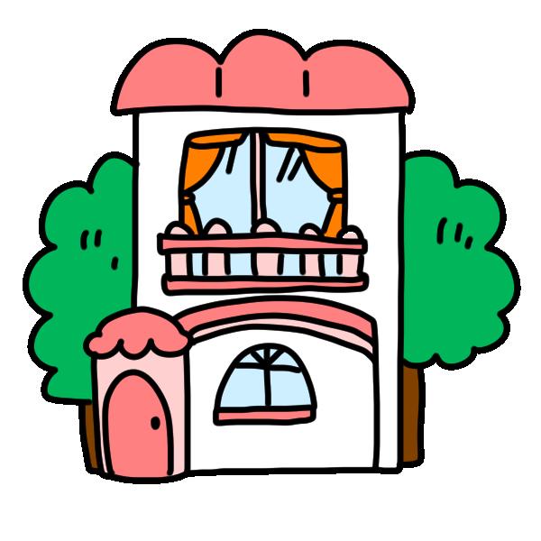 メルヘンなお家のイラスト