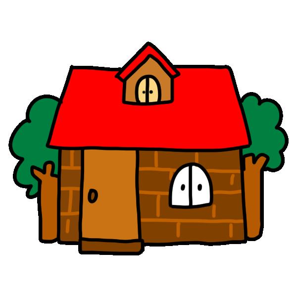 レンガのお家のイラスト