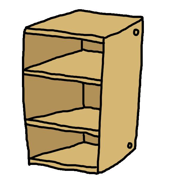 三段BOXのイラスト