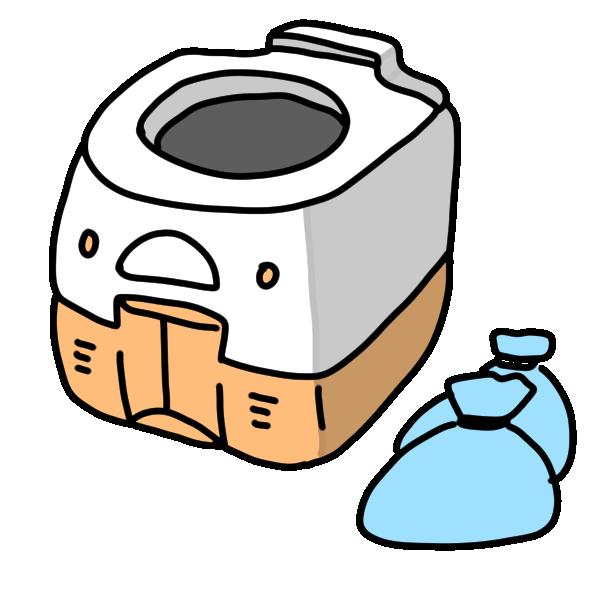 簡易トイレのイラスト
